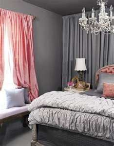 salmon curtains wall of curtains charcoal gray salmon pink romantic