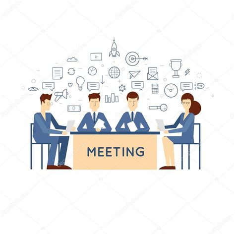 doodle event doodle meeting business meeting stock vector 169 odis