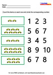 number recognition worksheets 1 10 171 the filipino homeschooler