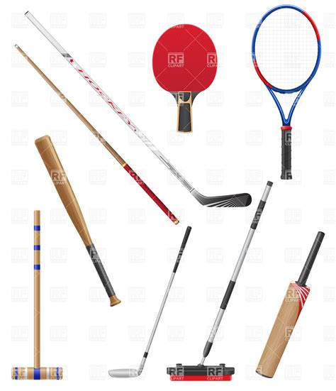 Best Seller Stik Baseboll Kayu sport equipment sport bats sticks and racket royalty free vector clip image 20975