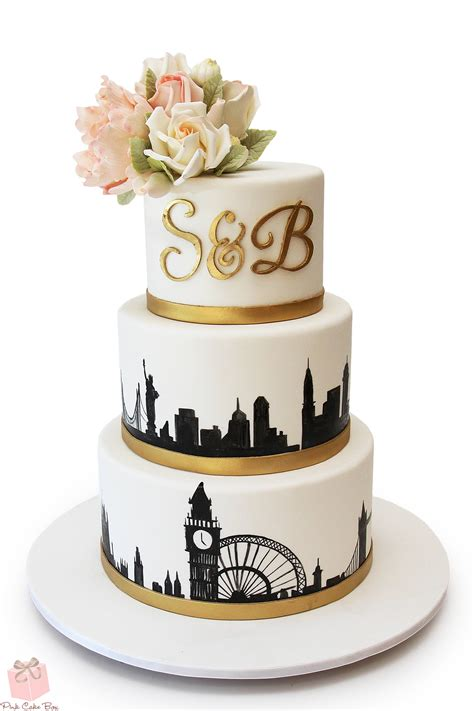 Wedding Cakes by Nyc Skyline Wedding Cake 187 Wedding Cakes