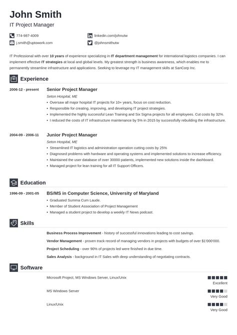 It Professional Resume Templates by 20 Resume Templates Create Your Resume In 5