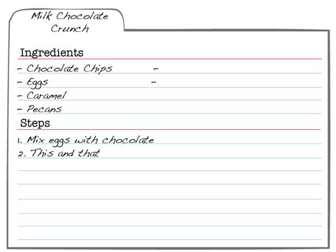 Word Templates For Note Cards Docs by Free Recipe Card Templates For Microsoft Word