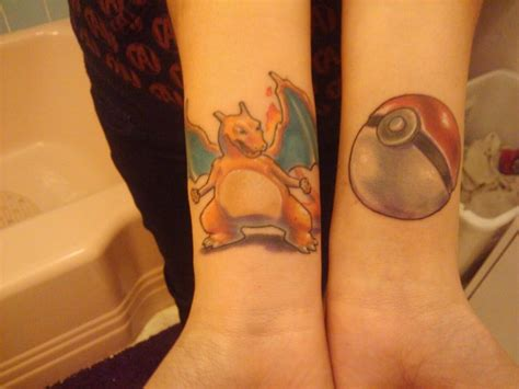 charizard tattoo charizard and pokeball tattoos