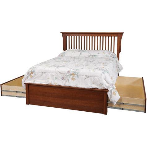 amish mission platform bed 11035 daniel s amish mission queen pedestal bed w 60 quot storage