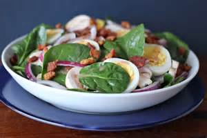 spinach salad with warm bacon dressing recipe dishmaps