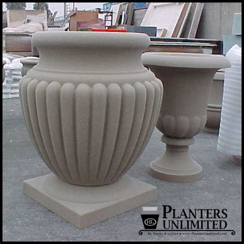 Urn Shaped Planters by Fiberglass Urn Planters Outdoor Urn Planters Planters Unlimited