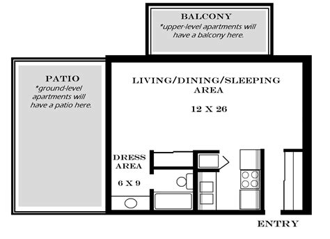 open floor plan studio apartment apartment plan studio blueprints bedroom ks floor plans