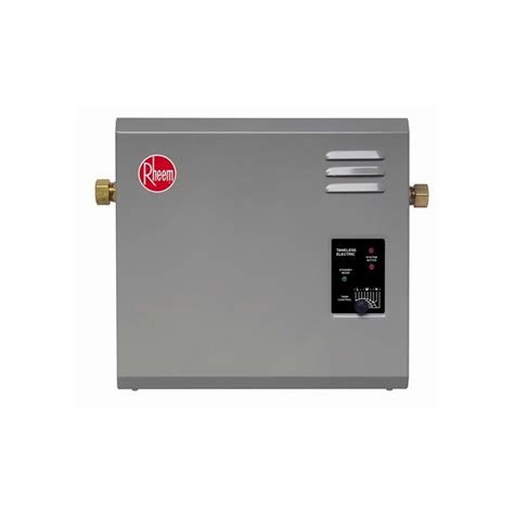 tankless water heater electrical connection rheem electric tankless water heater 5 gpm 240v rte18 1 2