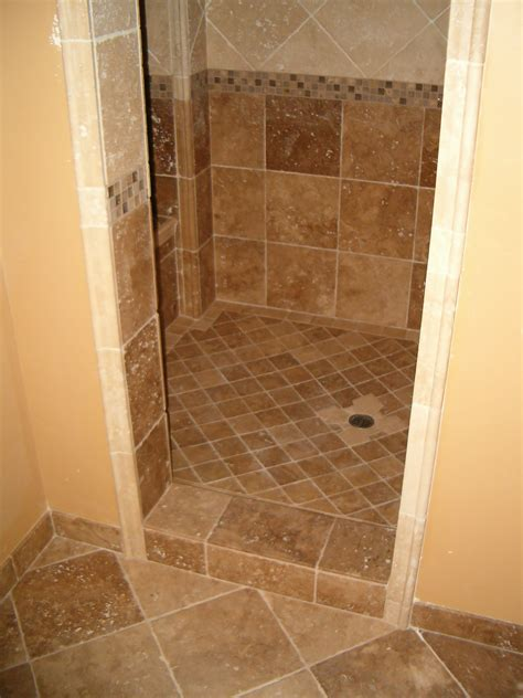 Ceramic Tiling A Shower by Small Tiled Walk In Showers Studio Design Gallery