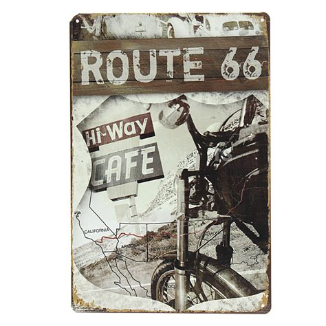 route 66 home decor route 66 tin sign retro vintage metal plaque bar pub wall