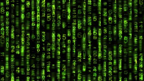 pattern matrix francais scrolling numbers matrix style animation stock footage
