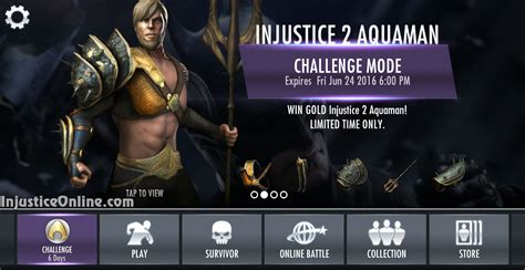 us mobile injustice 2 aquaman challenge for injustice mobile