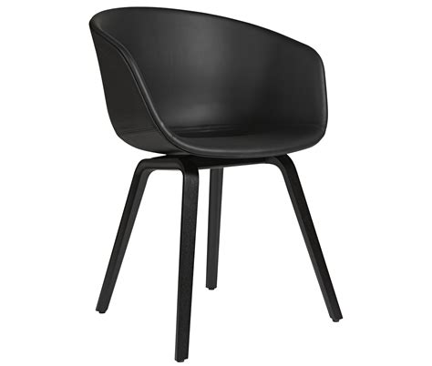 About Chair by About A Chair Padded Armchair Leather Shell Wood Legs