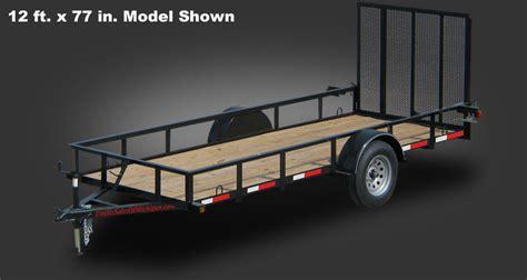 1 in x 6 in x 12 ft actual 06562 in x 55 in x 12 ft tongue and groove pattern 2990 gvwr 14 ft x 77 inch utility trailer