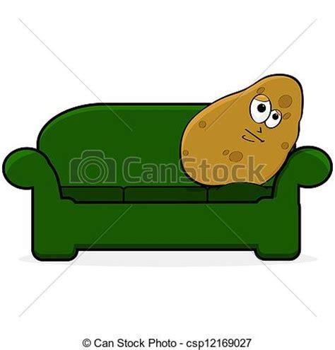 couch potato icon vector illustration of couch potato cartoon illustration