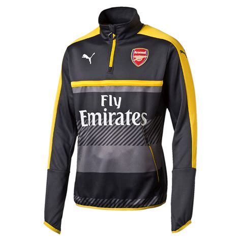arsenal quarter zip puma arsenal 2016 17 mens quarter zip training top