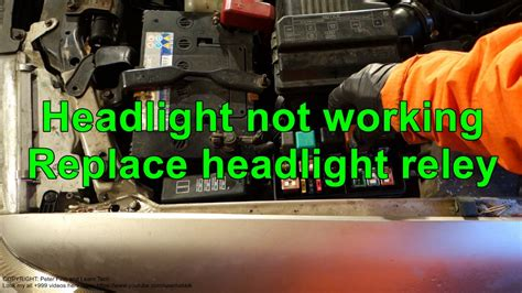 Where Is The Light headlight is not working replace headlight relay