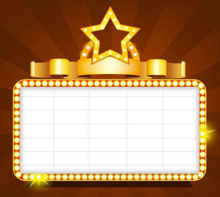 Theater Template image gallery theater sign template