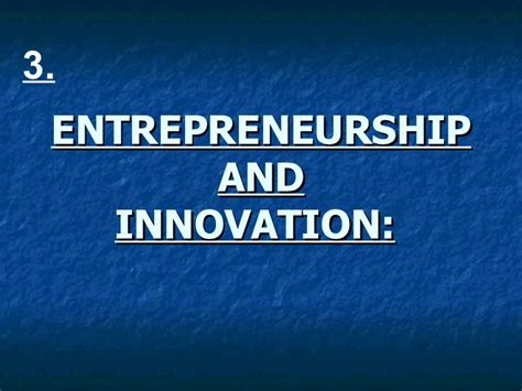 Mba In Leadership Entrepreneurship And Innovation by Entrepreneurship And Innovation