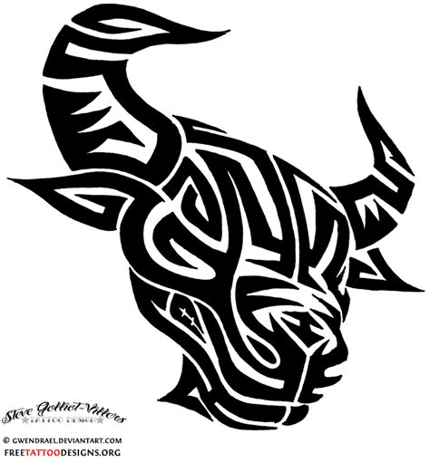 tribal bull tattoo designs bull 50 taurus tattoos