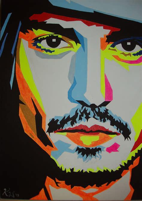 popular artwork johnny depp popart 2 by mojopimp on deviantart