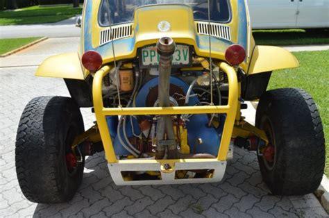 yellow baja yellow volkswagen competition baja bug dune buggy was