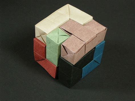 Origami Soma Cube - flickr the origami puzzles pool