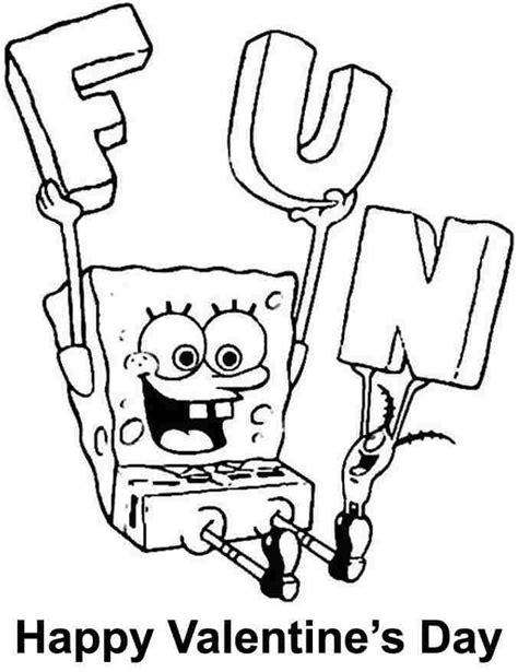 spongebob coloring page pdf printable spongebob valentine coloring sheets for kids