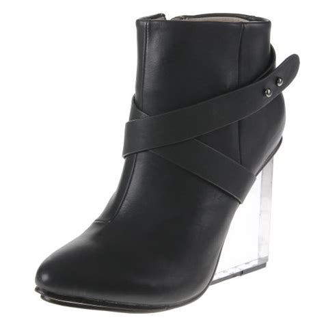 womesn ankle boots acrylic high heels shoes