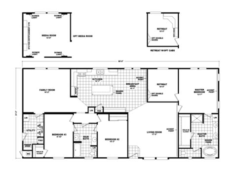 media room floor plans the pecan valley iii hi3268a manufactured home floor plan