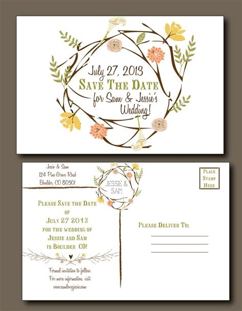 save the date post cards save the date postcard wedding summer wedding rustic weddi