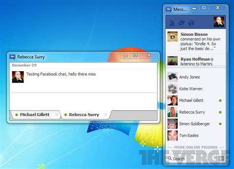 trasforma facebook in windows 7 facebook messenger para windows