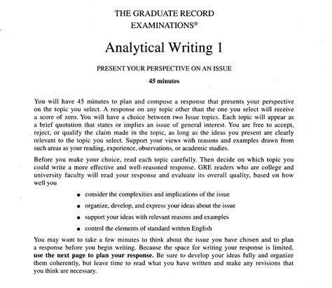 Gre Issue Essay Template gre essay exles exles of gre essays template