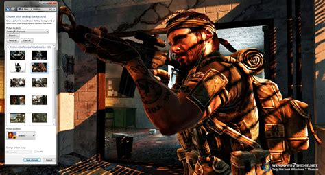 themes for windows 7 call of duty call of duty windows 7 theme download