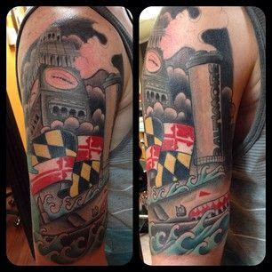 baltimore tattoos designs 25 best ideas about maryland on