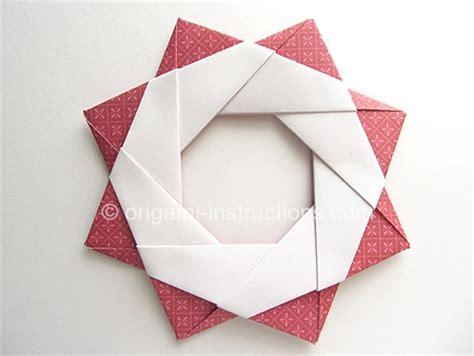 Modular Origami Wreath - origami modular wreath folding