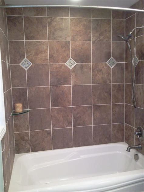 Tile Bathtub Shower Combo by Tub Shower Combo Custom Tile Surround With Yelp