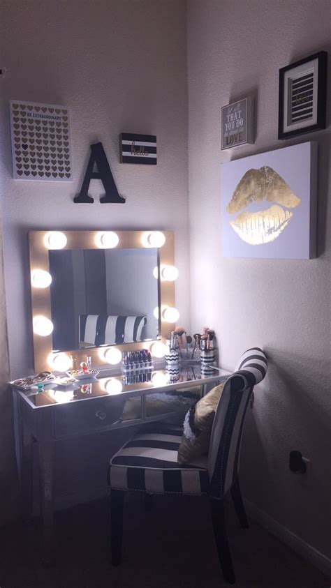 white vanity with lights diy makeup vanity hollywood mirror with lights black