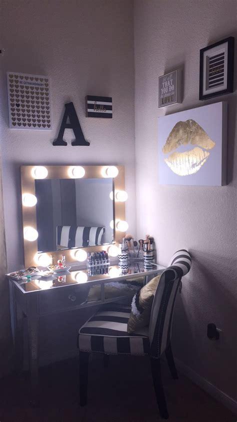 gold vanity mirror with lights diy makeup vanity hollywood mirror with lights black