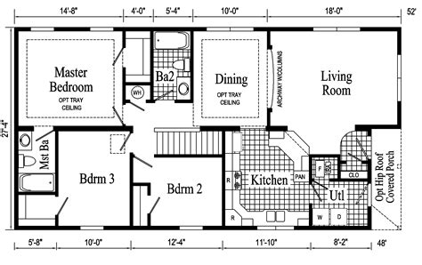 Ranch House Floor Plan by Newport Ranch Style Modular Home Pennwest Homes Model S