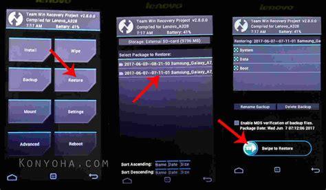 restore android cara backup restore android tanpa pc dengan custom recovery
