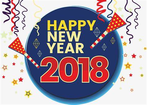 happy blessed new year 2018 free 2018 happy new year happy new year fireworks coloured ribbon png and vector for free