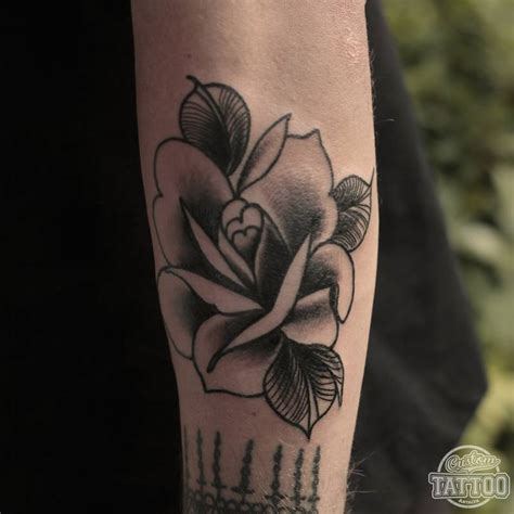 traditional black rose tattoo custom antalya