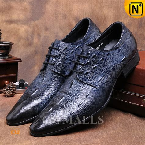 embossed leather shoes cwmalls 174 embossed leather derby shoes cw716013
