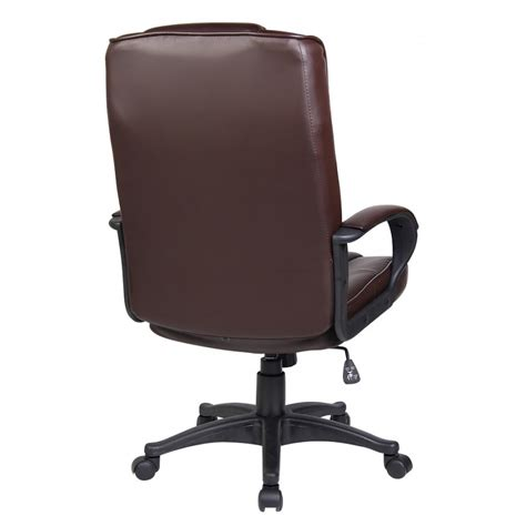 brown faux leather office chair chocolate brown faux leather executive computer office chair