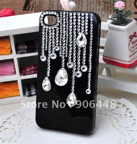 Handmade Mobile Phone Cases - free shipping handmade bling cell phone for iphone4