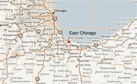 chicago map location east chicago location guide