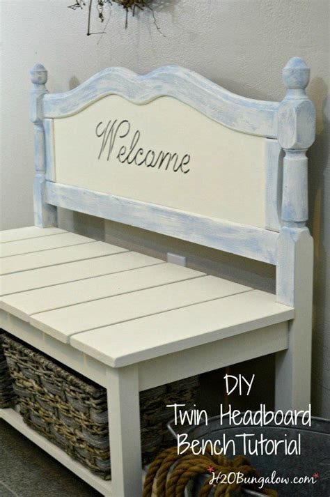 Bench From Headboard And Footboard 50 Headboard Bench Ideas My Repurposed Life 174