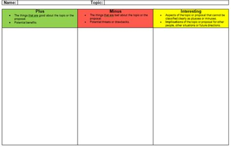 Table Top Organizer Mazenod Learning Graphic Organisers